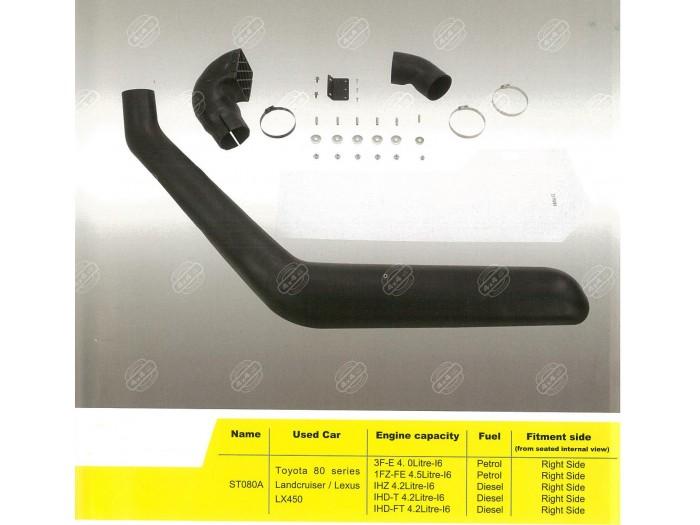 Snorkel - Toyota Landcruiser 80 Series 1990-98 Petrol and Diesel